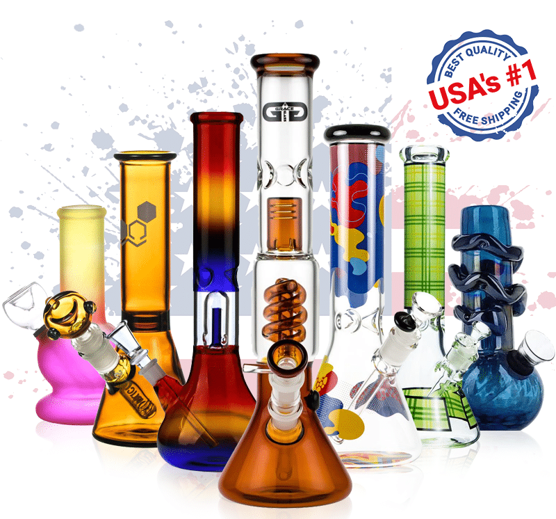 USA's best colored bongs for sale